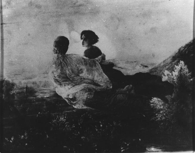 Tableau : Le Vol de l'âme, issu de la 1ère série du Poème de l'Ame, huile sur toile