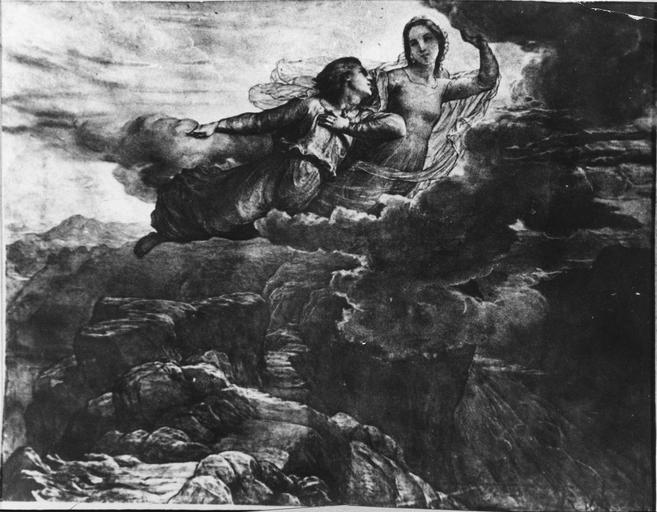 Tableau : L'Idéal, issu de la 1ere série du Poème de l'Ame, huile sur toile