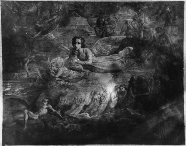 Tableau : Le Passage des âmes, issu de la 1ère série du Poème de l'Ame, huile sur toile