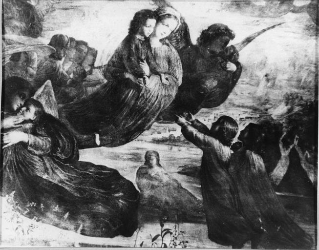 Tableau : Souvenirs du ciel, issu de la 1ère série du Poème de l'Ame, huile sur toile