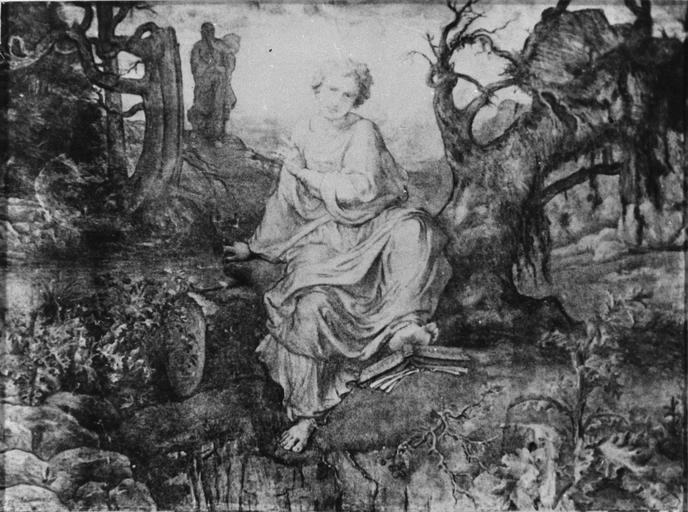Dessin : Sans mère, ou Sans Dieu, issu de la 2e série du Poème de l'Ame