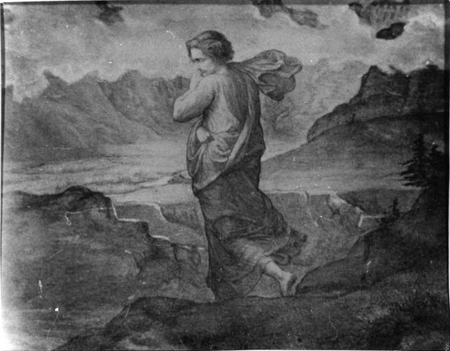 Dessin : Le Doute, issu de la 2e série du Poème de l'Ame