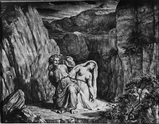 Dessin : Le Supplice de Mézence, issu de la 2e série du Poème de l'Ame