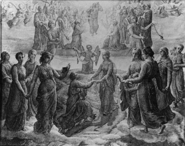 Dessin : Sursum corda, issu de la 2e série du Poème de l'Ame