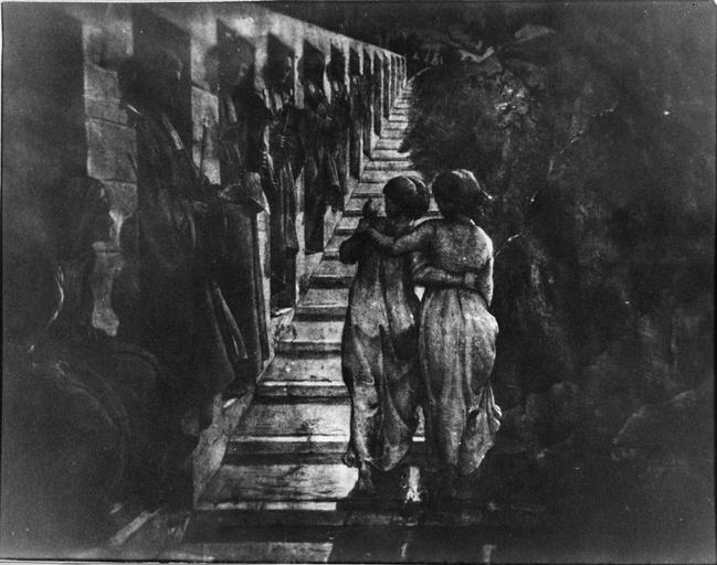 Tableau : Le Mauvais sentier, issu de la 1ère série du Poème de l'Ame, huile sur toile