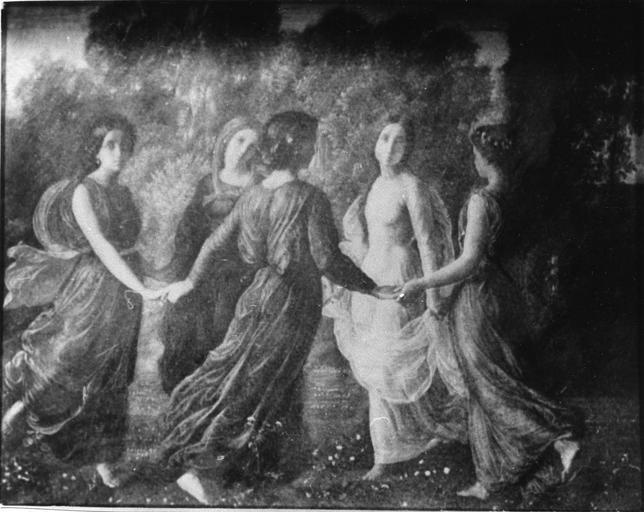 Tableau : Rayons de soleil, issu de la 1ère série du Poème de l'Ame, huile sur toile