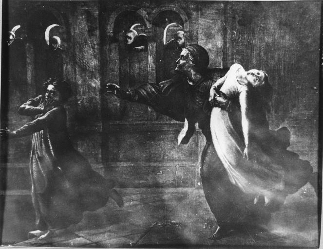 Tableau : Le Cauchemar, issu de la 1ère série du Poème de l'Ame, huile sur toile