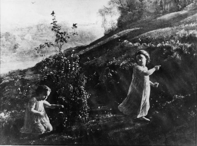 Tableau : Le Printemps, issu de la 1ère série du Poème de l'Ame, huile sur toile