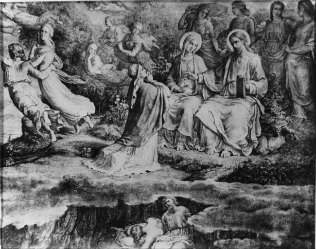 Dessin : Intercession matérielle, issu de la 2e série du Poème de l'Ame