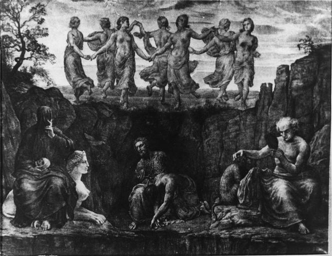 Dessin : Les Générations du mal, issu de la 2e série du Poème de l'Ame