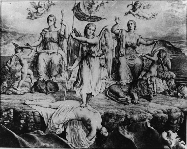 Dessin : La Délivrance, issu de la 2e série du Poème de l'Ame