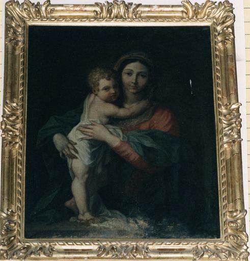 Tableau : Vierge à l'Enfant, huile sur toile