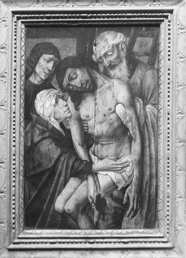Tableau : La Descente de croix, huile sur bois