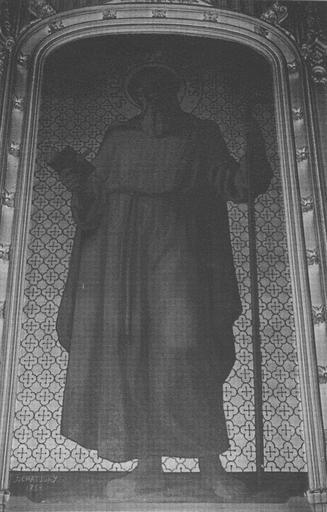 Retable, tableau : Saint Antoine ermite, cadre