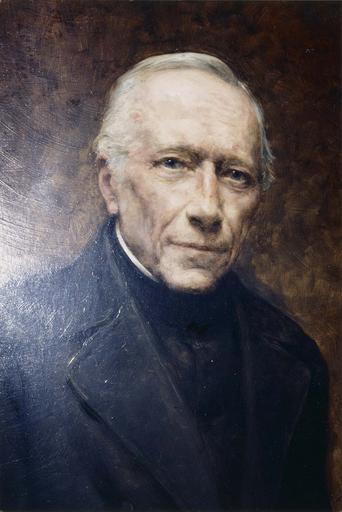 Tableau : Portrait du père Goutarbe, huile sur contreplaqué