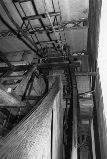 Métier à dentelle Putigny, jauge onze points, détail du mécanisme, métal (détail)