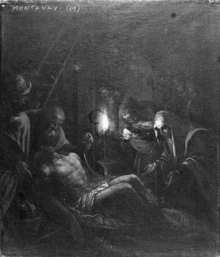 Tableau : La Déploration du Christ, huile sur toile ; après restauration
