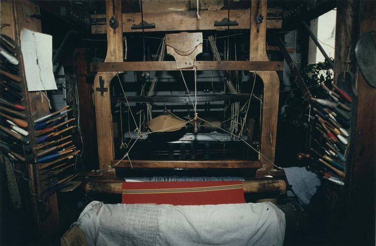 Métier à tisser à bras n° 4, système Jacquard, bois taillé