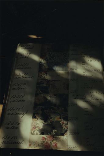 Livre d'échantillons de l'atelier de tissage Mattelon