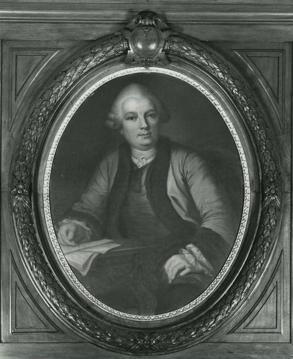 Tableau et son cadre : Portrait de Bourgelat, vue générale