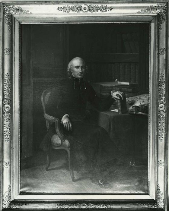 tableau : Portrait de l'abbé Rozier, vue générale