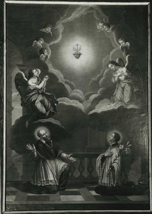 tableau : Saint François de Sales et saint François-Régis adorant le Sacré-Coeur, vue générale