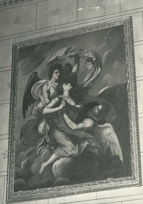 tableau et son cadre : Ravissement de sainte Catherine ou de sainte Madeleine, vue générale