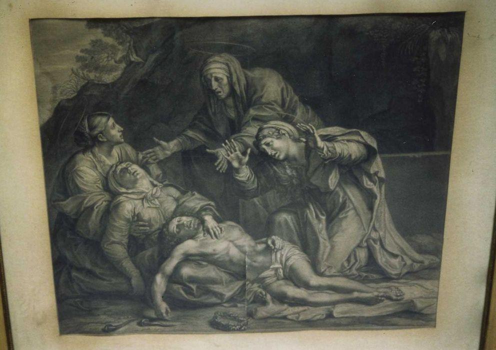 estampe : Vierge de Pitié, vue générale