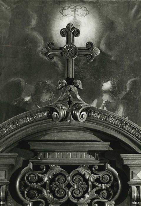 Tableau : Anges adorant le Sacré-Coeur
