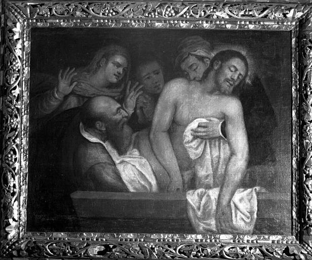 Tableau et son cadre : Mise au tombeau