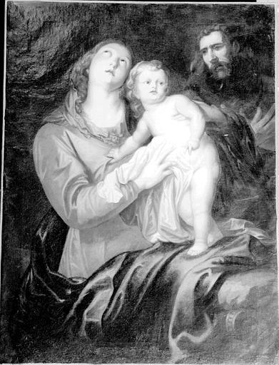 La Vierge et l'Enfant, peinture sur toile