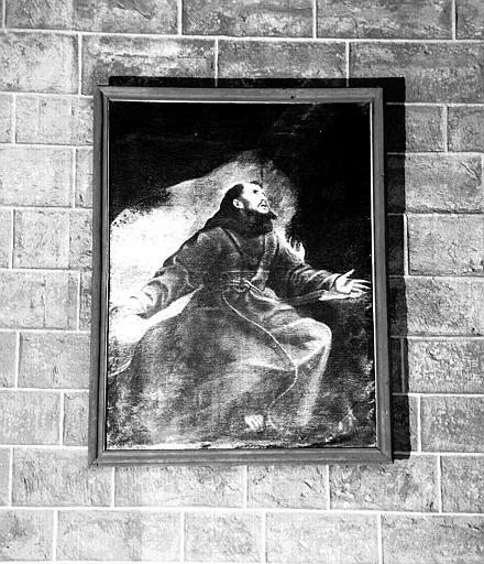 Saint François en extase, peinture sur toile