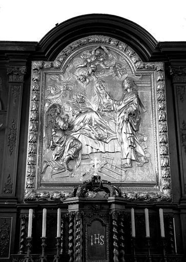Bas-relief en bois : Mort de saint Joseph