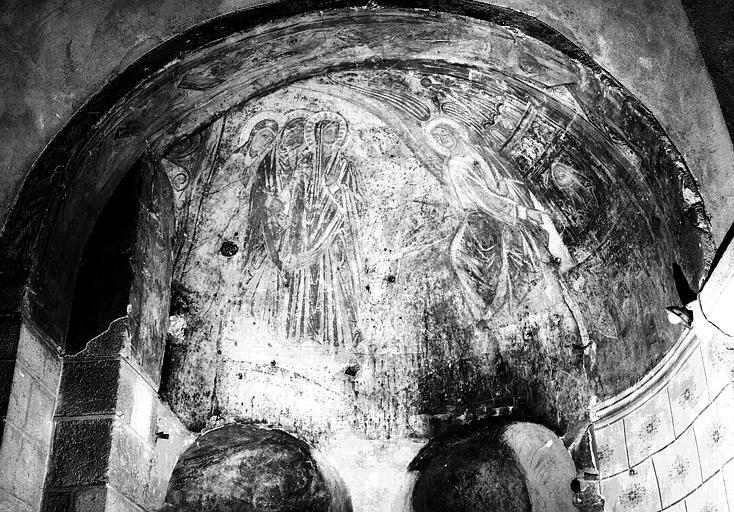 Décor peint (bras Nord du transept) : saintes femmes au tombeau (les).