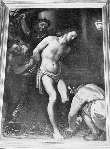 Tableau : le Christ à la colonne