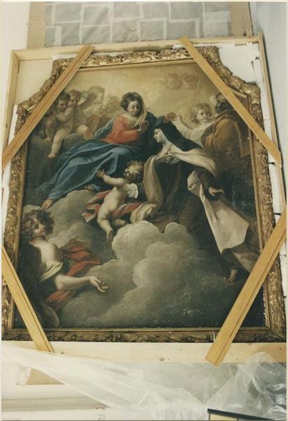 Tableau : la Remise du collier d'or par la Vierge à sainte Thérèse d'Avila, vue générale