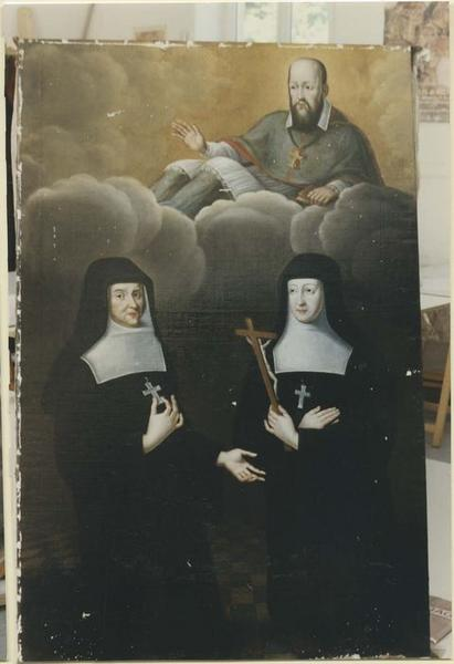Tableau : Saint François de Sales bénissant mère Sachot et mère Champrougier, Visitandines, vue générale
