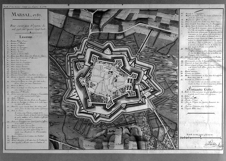 Plan des fortifications
