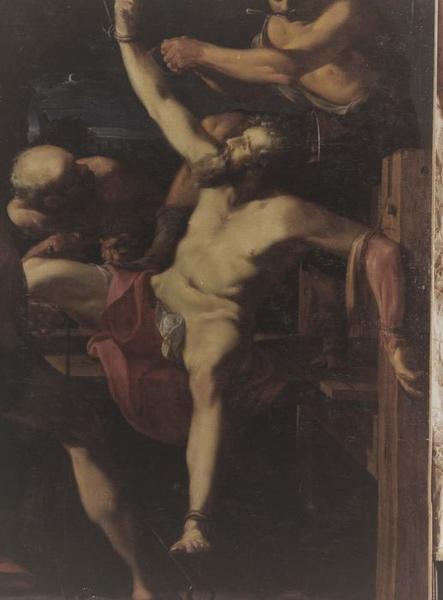 tableau : Martyre de la Saint-Barthélémy (Le), vue partielle