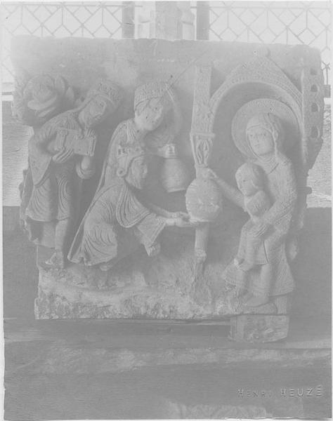 Chapiteau déposé: Adoration des mages (l'), vue générale