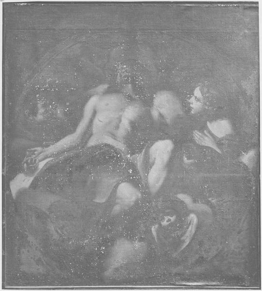 Tableau : le Christ mourant soutenu par les anges, vue générale