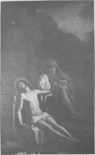 tableau : le Christ mort et la Vierge, vue générale