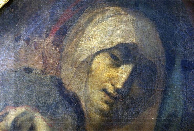 tableau : Vierge de Pitié, détail