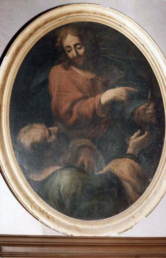 Tableau : Le Christ donnant les clefs à Saint-Pierre