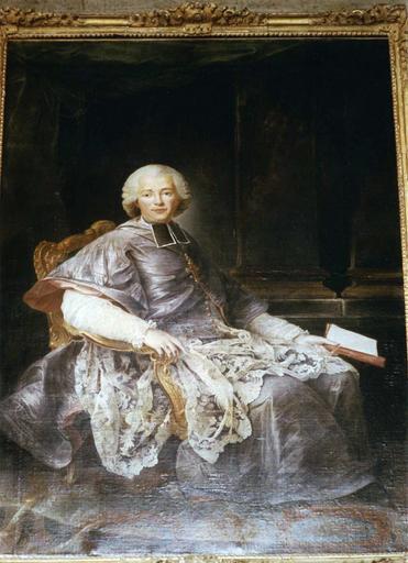 tableau, cadre : Louis-André de Grimaldi, évêque du Mans