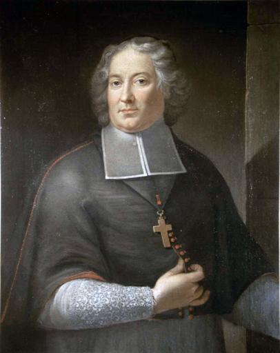 Tableau, cadre : Pierre Rogier du Crévy, évêque du Mans