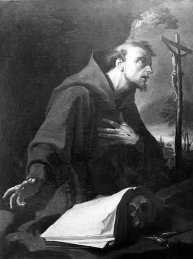 tableau : Saint François d'Assise, après restauration