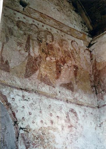 peintures monumentales, façade ouest, côté nord
