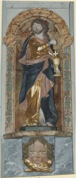 Statue du retable: saint Jean, vue générale