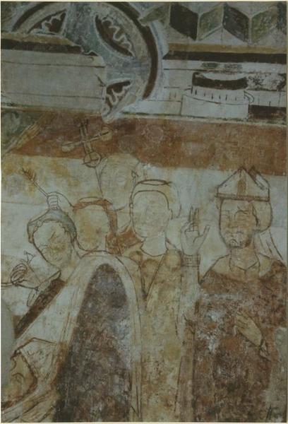 Peinture monumentale : La mort de saint Hilaire, détail